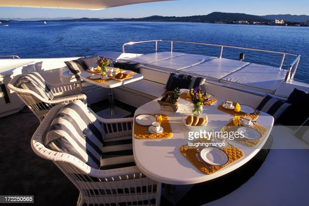 boat deck luxury motor yacht