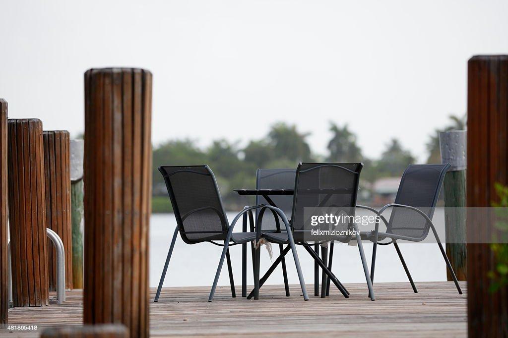 Boat Dock Furniture : Stock Photo