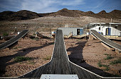 Boat docks sit on what used to be the bottom of Lake Mead at the abandoned Echo Bay Marina on May 12 2015 in Lake Mead National Recreation Area...
