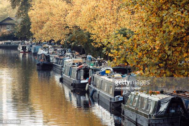Boat houses in Little Venice, London