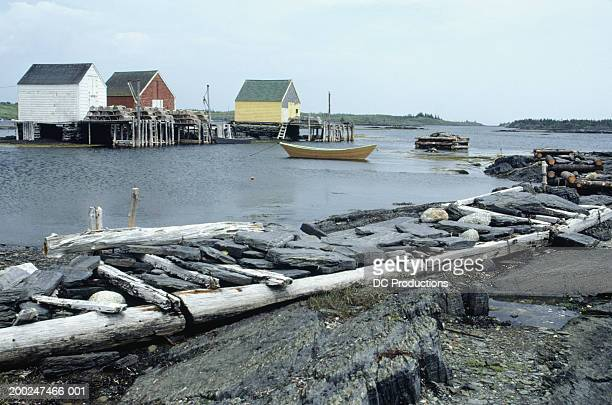 Boat in harbour, Blue Rocks, Nova Scotia, Canada