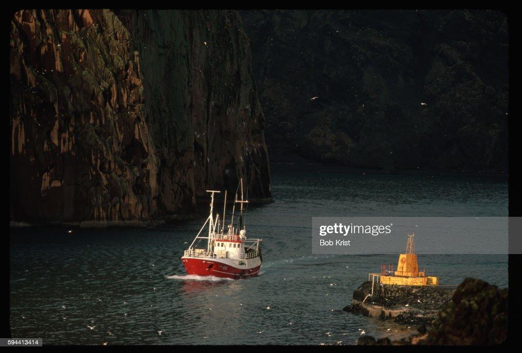 Boat in Heimaey Harbor
