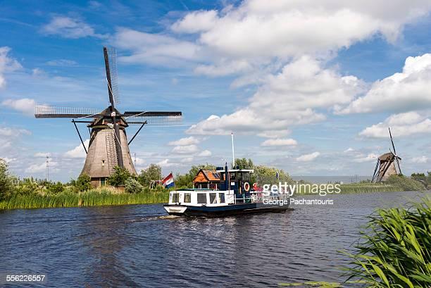 Boat in Kinderdijk, Netherlands