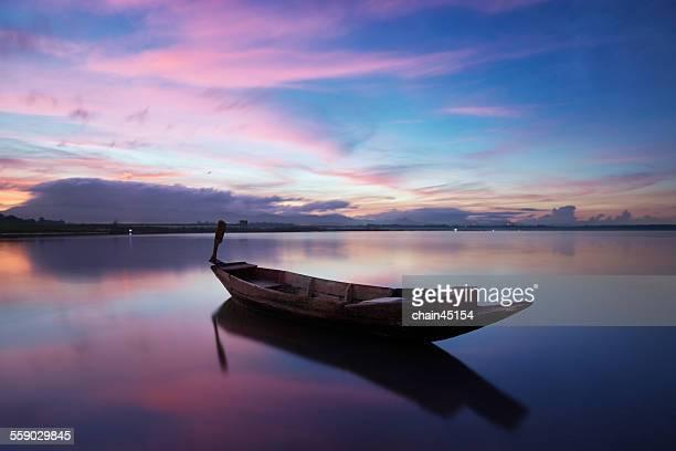 Boat in Pattaya sea beach