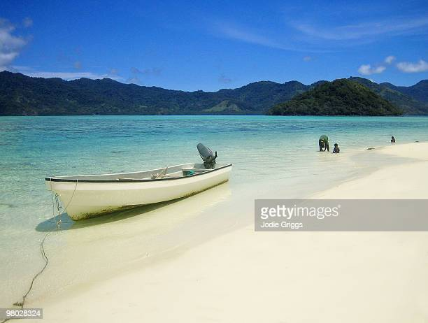 Boat in Tropical Waters