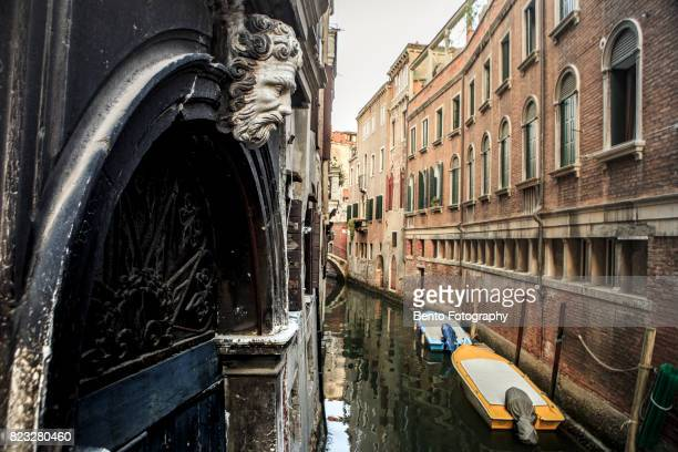 Boat in venice canal