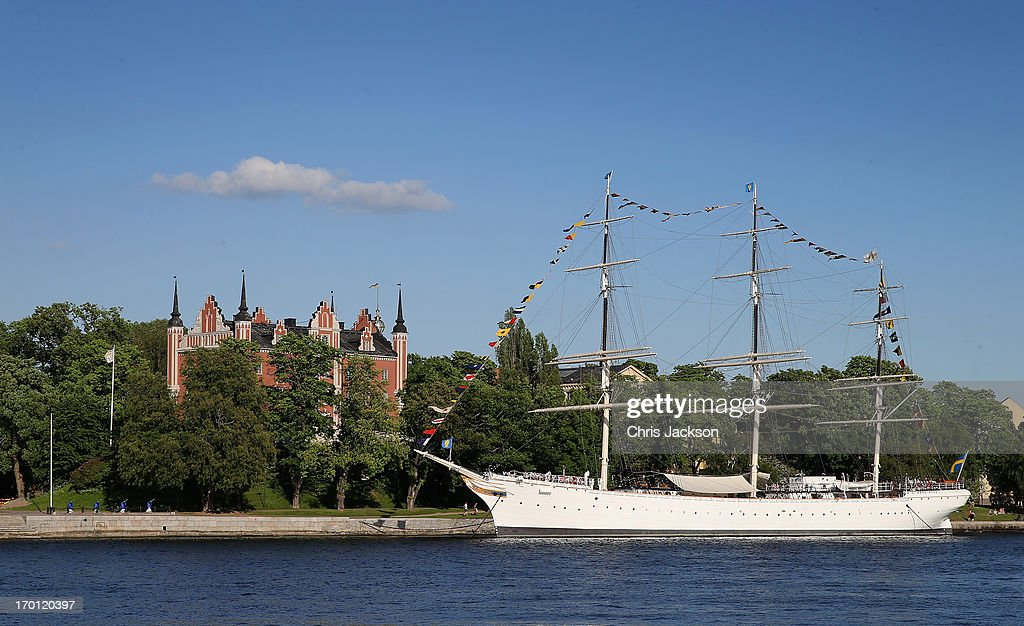 A boat is docked as preparations for the wedding of Princess Madeleine of Sweden and Christopher O'Neill continues on June 7, 2013 in Stockholm, Sweden.