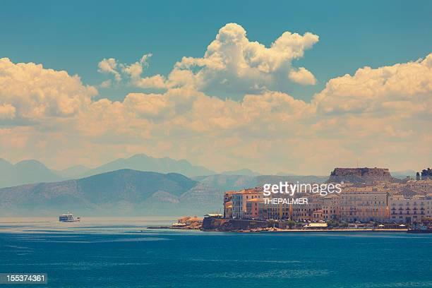 Boot vom Hafen von Korfu