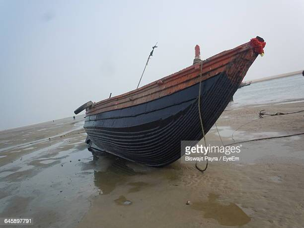 Boat Moored At Beach