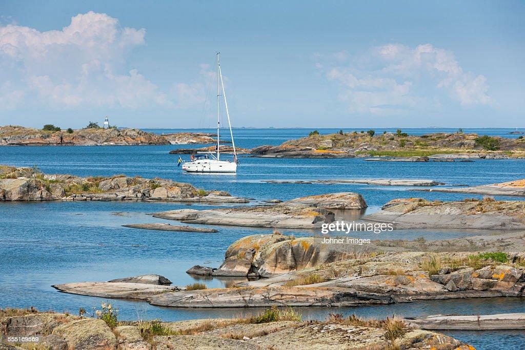 Boat near coast