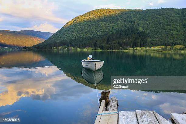 Boot auf einem Spiegel