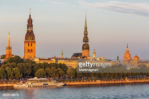 Boat on Daugava river
