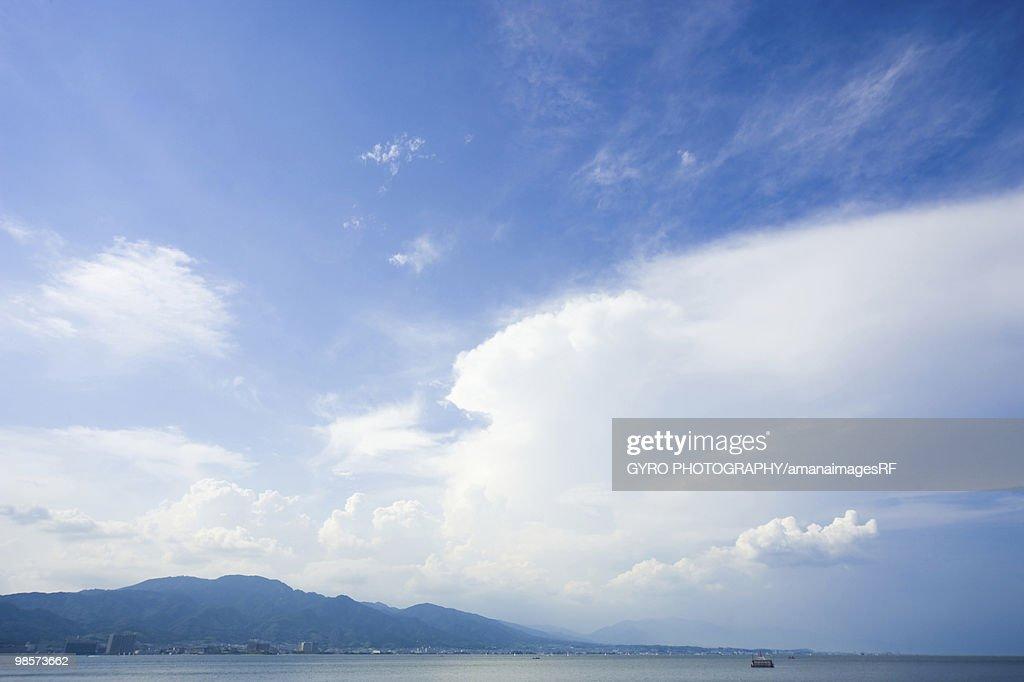 Boat on Lake Biwa, Otsu, Shiga Prefecture, Japan