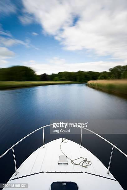 Boat on river (blurred motion)