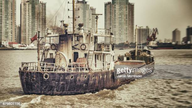 A boat on the Huangpu
