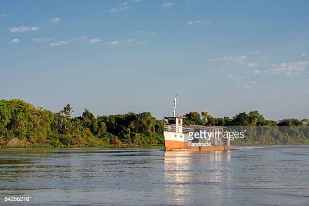 Boat on the River Cuiaba Mato Grosso Brazil