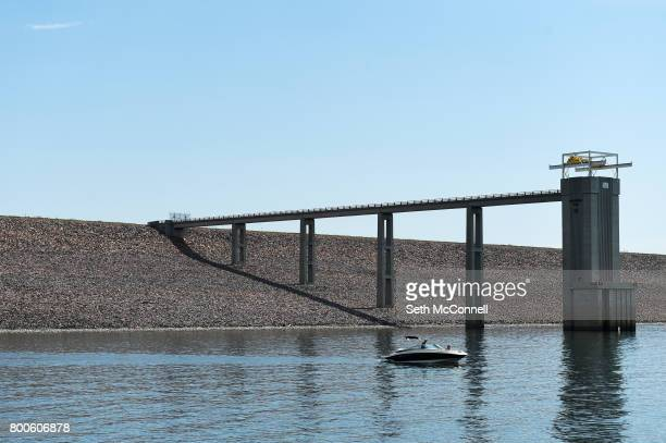 A boat on the water at Chatfield Reservoir on June 22 in Littleton Colorado The Army Corp of Engineers has decided Chatfield Reservoir can...