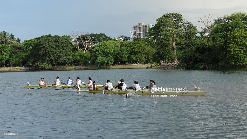 Boat race during Chinese Dragon Boat Festival at Rabindra Sarobar on June 26, 2016 in Kolkata, India. Kolkata has a largest Chinese population in India. Dragon Boat Race festival was started last year at Tiretti Bazaar, but this is first time boat race was being held. A crucial tie-up was done with Calcutta Rowing Club to host the first ever Dragon Boat Race at Rabindro Sarobor Lake.