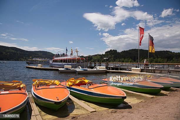 Boat rental at Lake Titisee in the Black Forest, Baden-Wuerttemberg, Germany, Europe