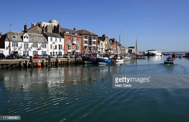 A boat sales from the harbour at Weymouth on April 8 2011 in Weymouth England Weymouth Bay and Portland Harbour is gearing up to be the venue for the...