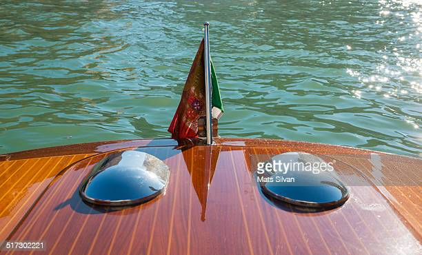 Boat with an Italian flag