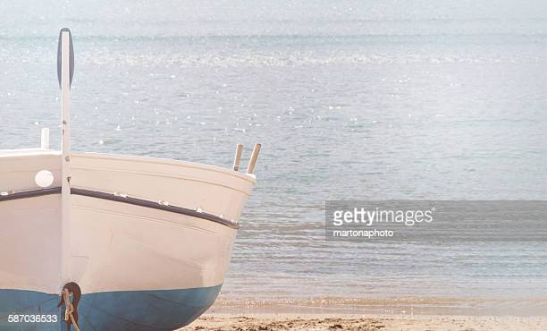 Boat with sea background