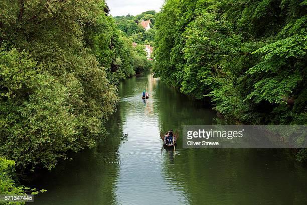 Boating on the Neckar river