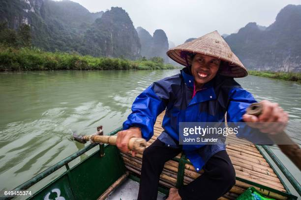 Boatman at Trang An Complex Trang An Landscape Complex is made up of three distinct areas Hoa Lu Ancient Citadel Trang An and Tam Coc Bich Dong...