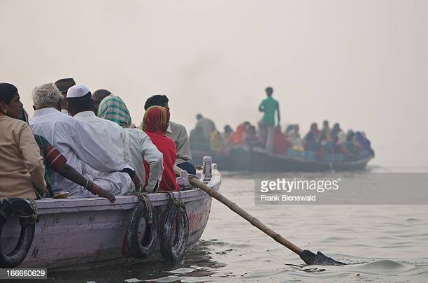 A boatride on the holy river Ganges is part of every pilgrimage to Varanasi