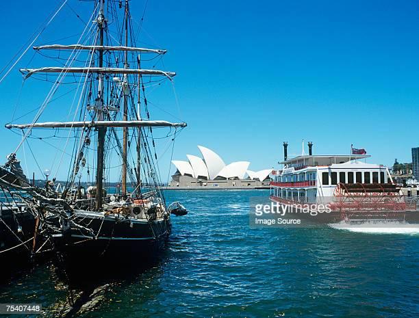 Boats and sydney opera house