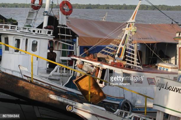 Boats at Amazon Region in Belém,Brazil