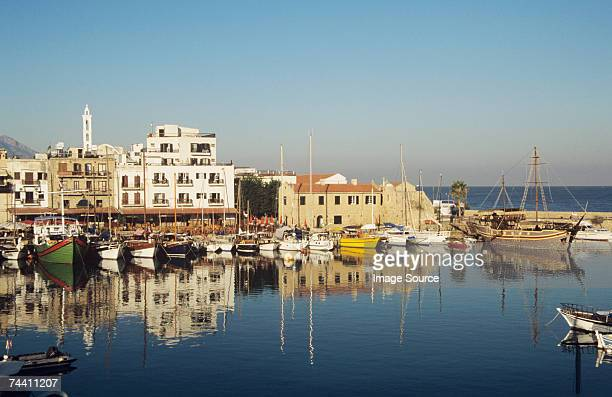 Boats at kyrenia harbour cyprus