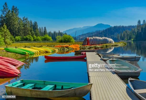 Boats at ramp,  Hume Lake near Kings Canyon National Park, CA (P)