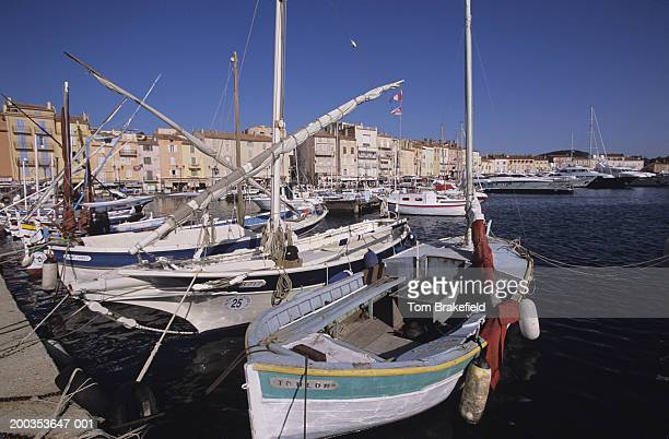 Boats, close-up, St. Tropez Harbor, French Riviera, Cote d' Azur, France