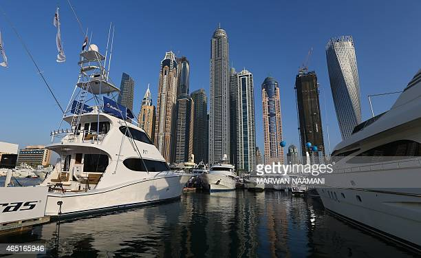 Boats displayed at Dubai's International Boat Show on March 3 2015 Over 850 international regional and local exhibitors from more than 50 countries...