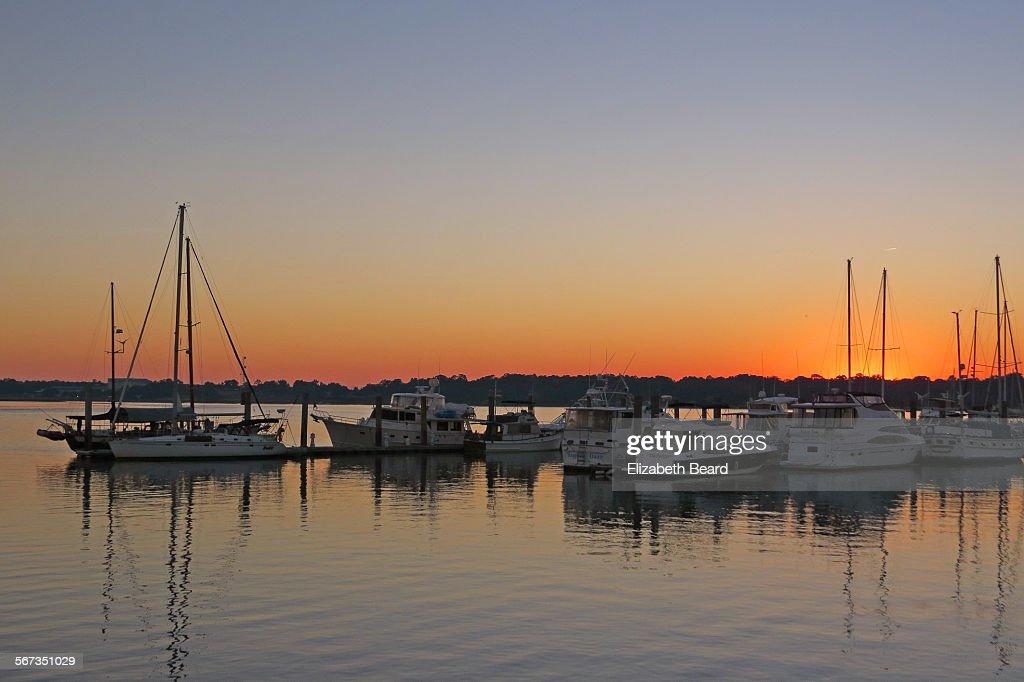 Boats docked in Beaufort, South Carolina