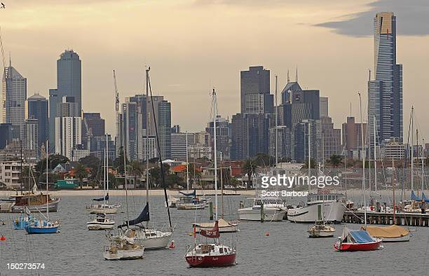 Boats float in St Kilda Harbour on August 14 2012 in Melbourne Australia Melbourne has been crowned the most liveable city according to the Global...