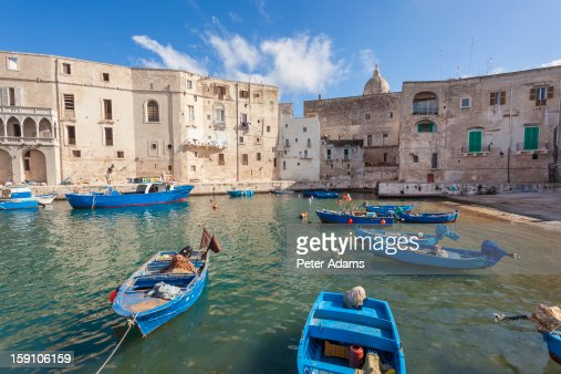 Boats & Harbour Monopoli, Puglia (Apulia), Italy : Stock Photo
