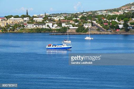 Boats in Basseterre, Saint Kitts