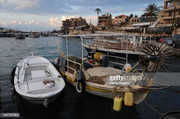 Boats in Byblos Bay Byblos Lebanon 2011
