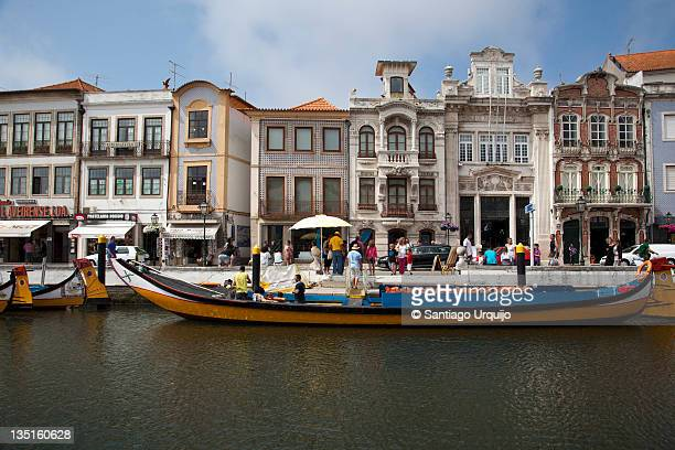 Boats in canal in Aveiro