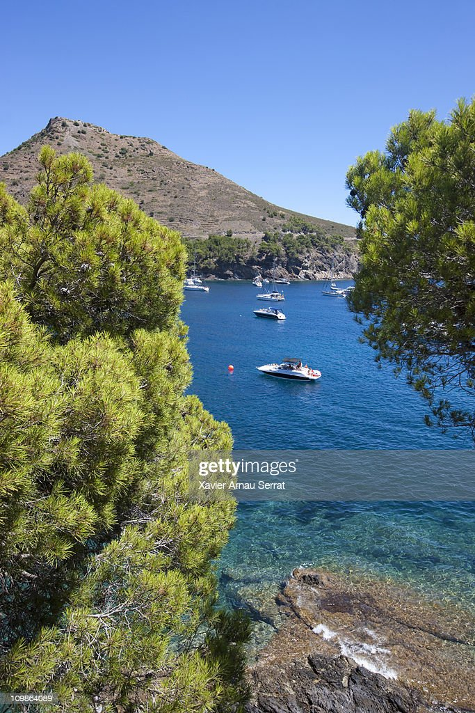 Boats in Cap de creus : Stock Photo