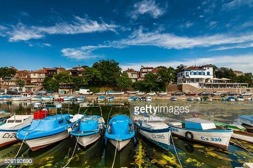 Boats in fishing marina, Sozopol, Black Sea, Bulgaria