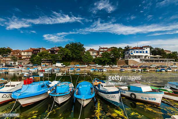 Boats in fishing marina, Sozopol, Black Sea, Bulgaria