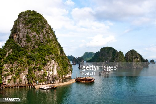 Boats in Halong Bay : Stock Photo