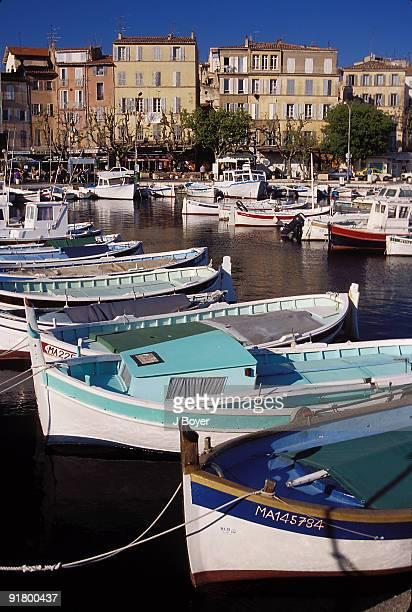 Boats in harbor at La Ciotat, Bouches-Du-Rhone, France