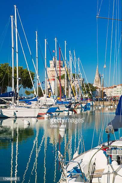 Boats in La Rochelle harbour La Rochelle Charente-Maritime Poitou-Charentes France