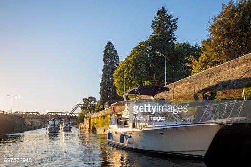 Boats in locks, Seattle