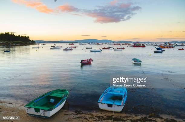 Boats in Ria de Arousa, Galicia