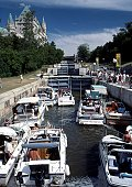 Boats in Rideau Canal Locks
